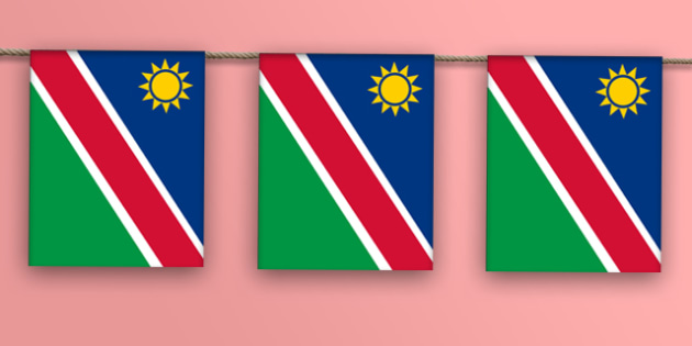 Namibia Flag Display Bunting - countries, geography, display