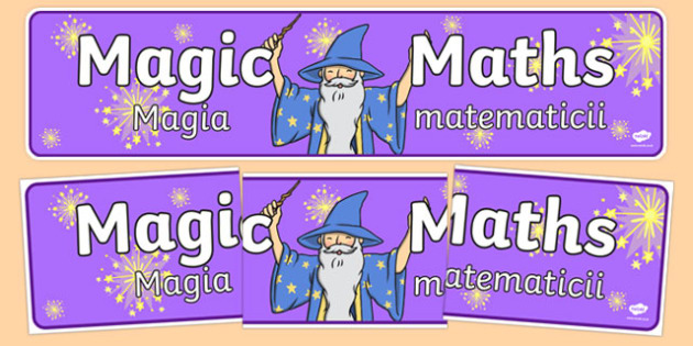 Magic Maths Area Display Banner Purple Romanian Translation - romanian, maths, numeracy, banner