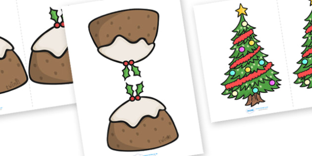 Christmas Card Standing Templates - christmas, card templates