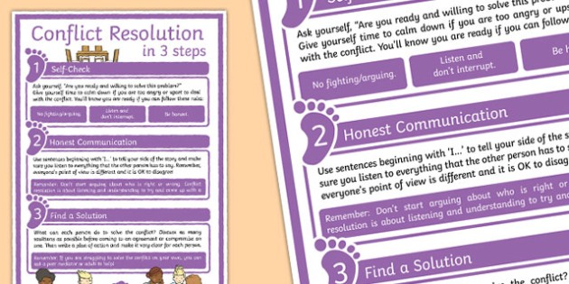 Conflict Resolution Poster - conflict resolution, poster, display, conflict, resolution
