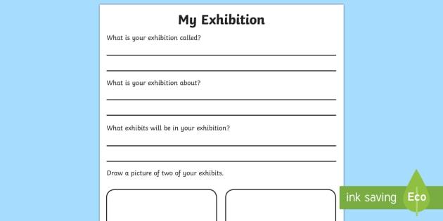 Museum Exhibition Planning Worksheet - museum, exhibition, planning, worksheet, museum worksheet, exhibition planning, themed worksheet, museum worksheet
