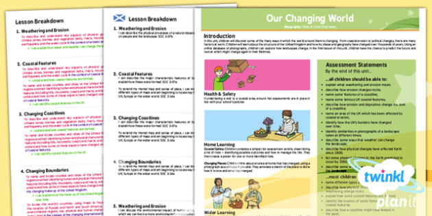 Geography: Our Changing World Year 6 Planning Overview CfE