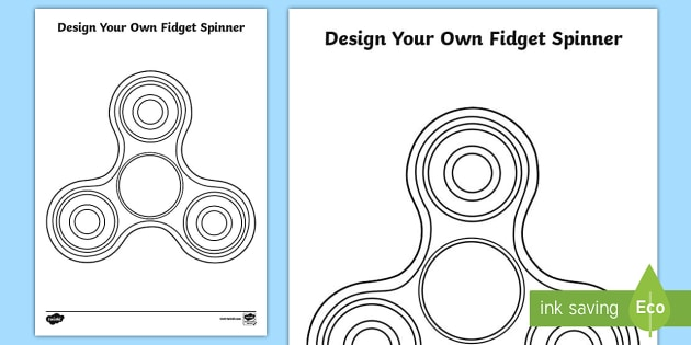 photograph regarding Printable Fidget Spinner Template identified as Style and design Your Personalized Fidget Spinner Worksheet / Worksheet