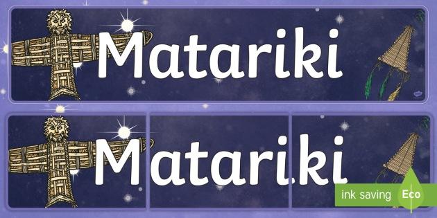 Matariki Display Banner - nz, new zealand, Matariki, Maori, banner display