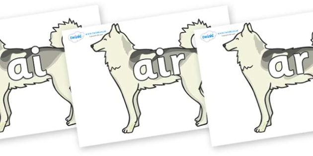 Phase 3 Phonemes on Huskies - Phonemes, phoneme, Phase 3, Phase three, Foundation, Literacy, Letters and Sounds, DfES, display