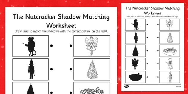 The Nutcracker Shadow Matching Worksheet - nutcracker, shadow, matching, worksheet