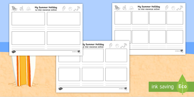 NEW * My Summer Holiday Storyboard Template - Italian/English