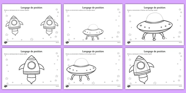 alien positional language worksheets french french france. Black Bedroom Furniture Sets. Home Design Ideas