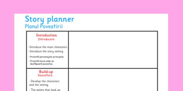 Planul Povestirii - schita, compunere, scriere