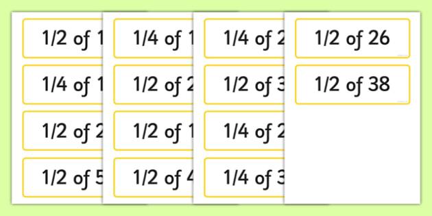 quarter cards