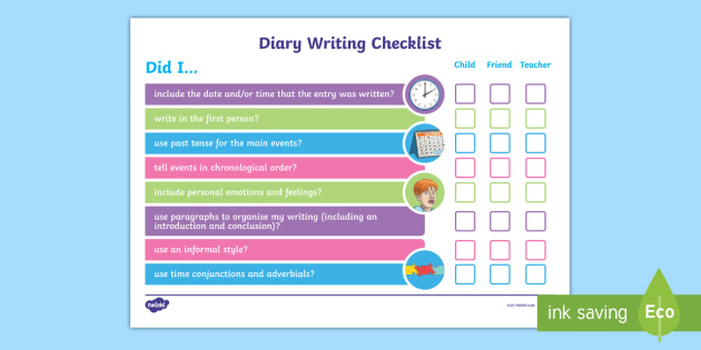 writing a diary entry ks2 success criteria
