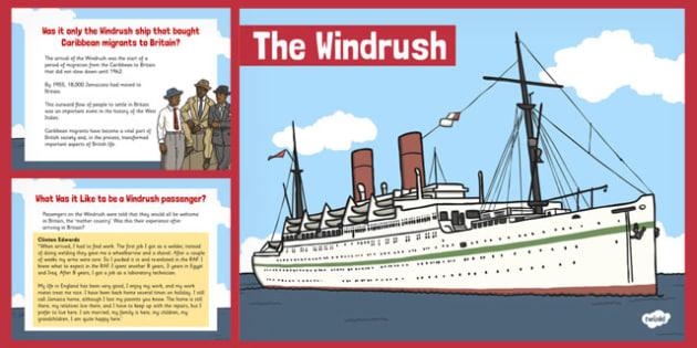 The Windrush PowerPoint - Windrush, Black History,  PowerPoint