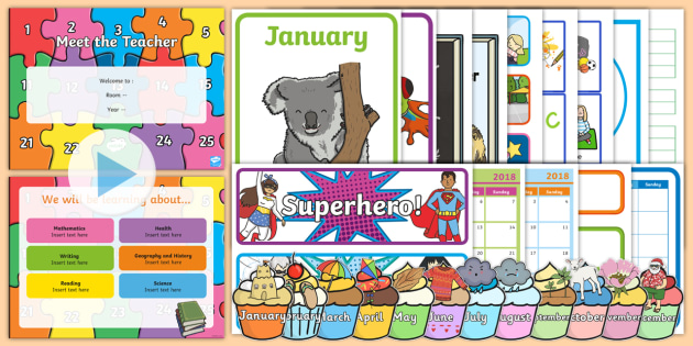 Back to School Organisation Resource Pack - term 1, start of year, class organisation, set up, new year