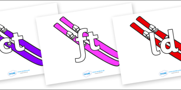 Final Letter Blends on Skis - Final Letters, final letter, letter blend, letter blends, consonant, consonants, digraph, trigraph, literacy, alphabet, letters, foundation stage literacy