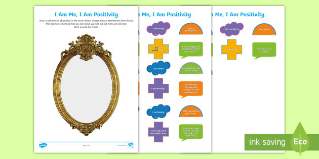 FREE! - Positive Affirmations Self-Portrait Draw and Stick