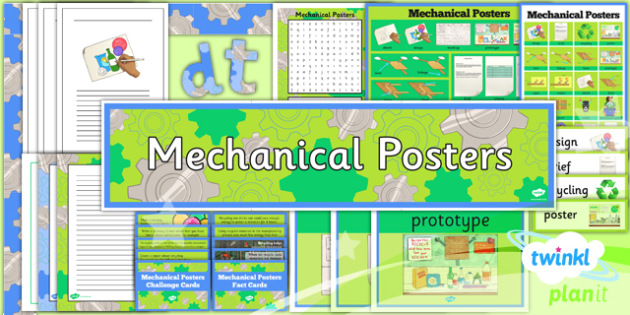 D&T: Mechanical Posters LKS2 Additional Resources