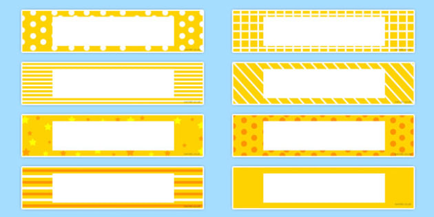 Gratnells Tray Labels Yellow - displays, labels, trays, gratnell