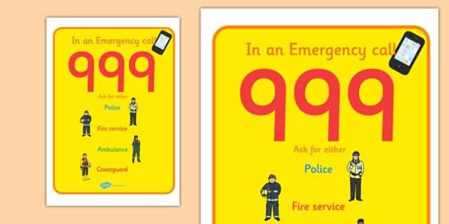 People Who Help Us Call 999 Poster Coastguard - people who help up, coastguard, call 999, emergency, poster, display