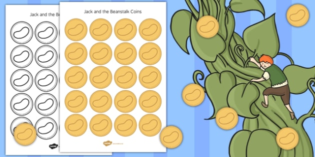 Jack and Beanstalk Coins - jack, beanstalk, coins, counters