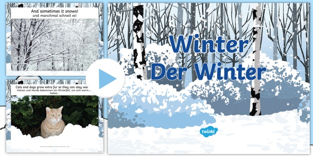 all about winter powerpoint english german eal german