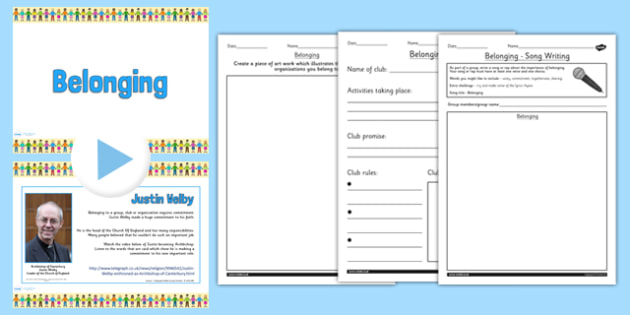 Belonging Teaching Pack - religious education, religion