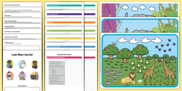 EYFS On Entry Assessment Booklets Pack - EYFS assessment, baseline assessment, inital assessment, nursery assessment, reception assessment, nursery, reception, fs1, fs2, foundation stage,