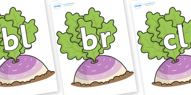 Initial Letter Blends on Turnip in the Ground - Initial Letters, initial letter, letter blend, letter blends, consonant, consonants, digraph, trigraph, literacy, alphabet, letters, foundation stage literacy