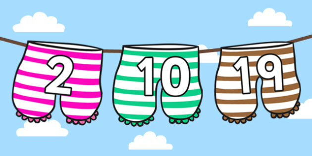 1-20 Number Display Cut-Outs to Support Teaching on Aliens Love Underpants