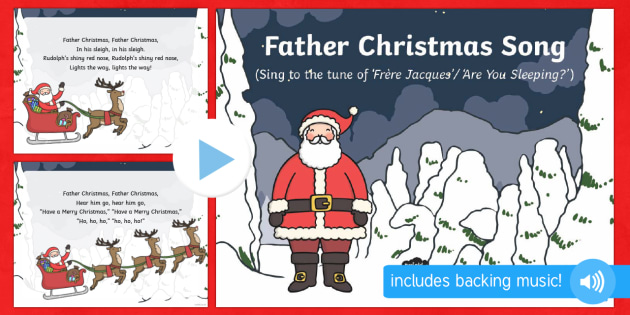 Father Christmas Song PowerPoint