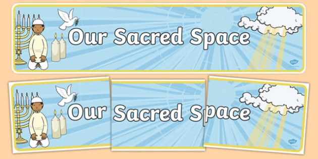 Our Sacred Space Display Banner