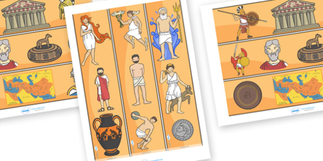 Ancient Greece Display Borders - Ancient Greeks, history, Greeks, display border, classroom border, border, Greece, Olympic games, Homer, Athens, Alexander the Great , theatre, parthenon, Sparta, peloponnesian war, persians