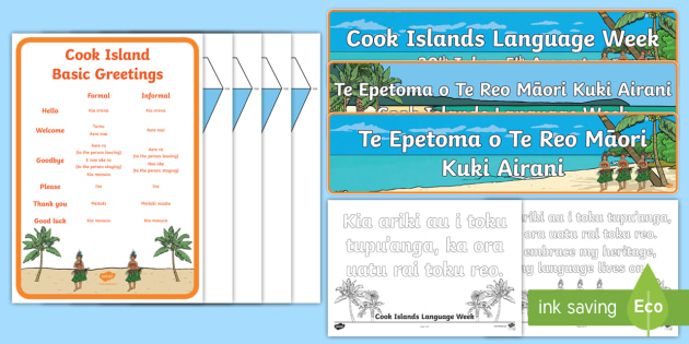 Cook islands language week resource pack bunting banner cook islands language week resource pack bunting banner colouring page basic salutations m4hsunfo Gallery