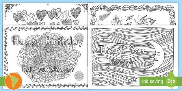 Greetings Mindfulness Coloring Pages Us English Spanish Latin