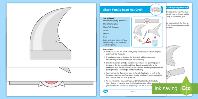 Shark Family Baby Hat Craft Instructions Baby Shark Pink Fong