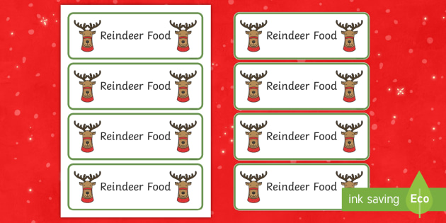 image regarding Reindeer Food Labels Printable identify Reindeer Foods Labels