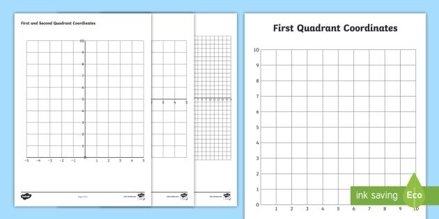 New Blank Quadrants Coordinate Worksheets Quadrant