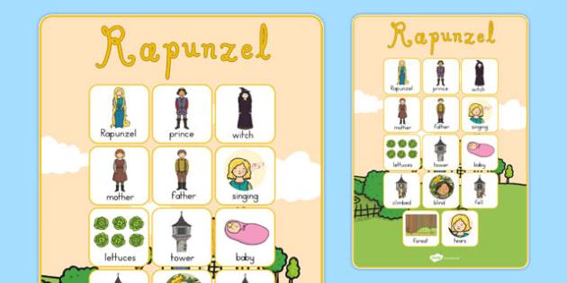 Rapunzel Vocabulary Poster - australia, rapunzel, poster, display