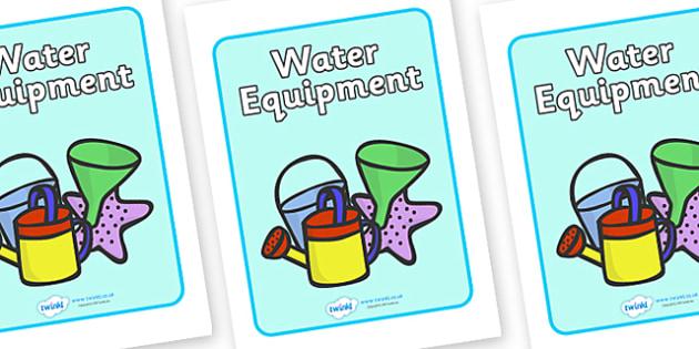 Water Equipment Label - water, equipment, sign, label, playground, poster, school