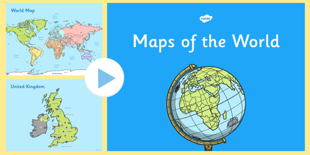 United Kingdom On The World Map.Ks1 Uk Europe And World Map Presentation United Kingdom Maps