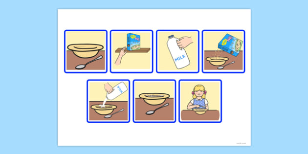 T S 1640 7 Step Sequencing Cards Eating Breakfast on Kindergarten Curriculum