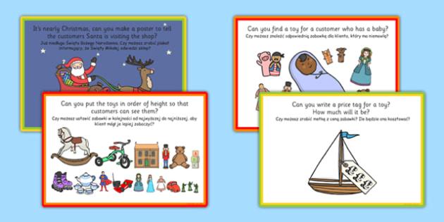 Challenge Cards Toy Shop Polish Translation - polish, challenge, cards, toy shop, toys