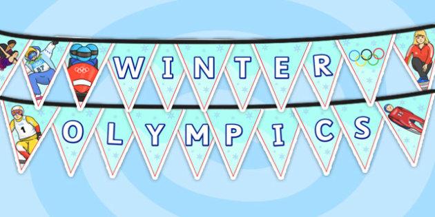 Winter Olympics Bunting - winter, olympics, display bunting