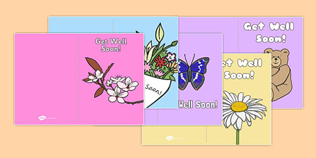Get Well Soon Cards Get Well Soon Cards Card Templates Sick - Get well soon card template