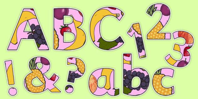 Fruit Salad Display Lettering Pack - olivers fruit salad, fruit salad, display lettering, pack, display, letter