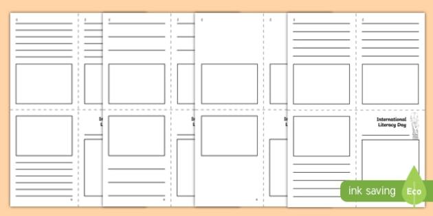 International Literacy Day Mini Book Activity Sheet, worksheet