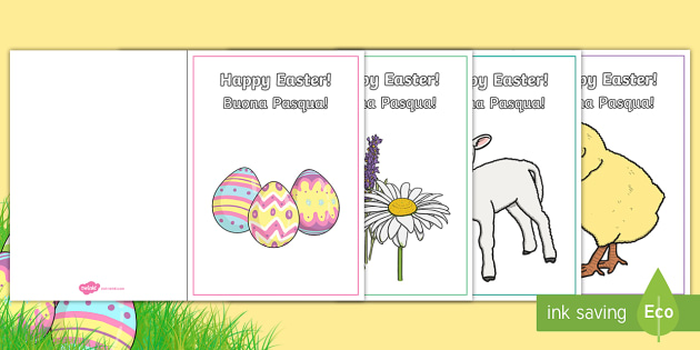 Easter Card Templates EnglishItalian  Easter Card Templates