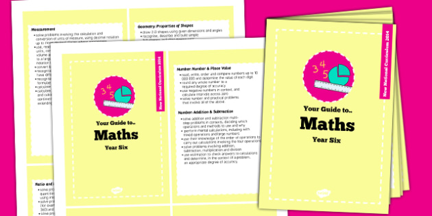 2014 National Curriculum Cards Year 6 Maths - new curriculum, planning