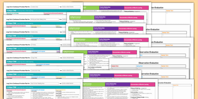 Editable Continuous Provision Planning Pack 16-26 to 40-60 Months