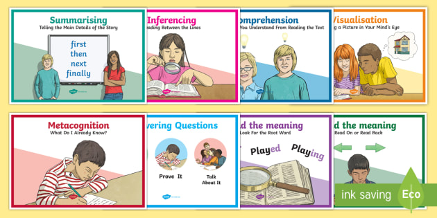 CfE Reading Strategies A4 Display Poster - CfE Literacy, reading, comprehension, strategies, 2nd Level, checklist, Scottish