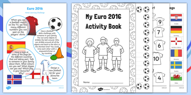 EYFS Euro 2016 Nursery FS1 Home Learning Activity Pack